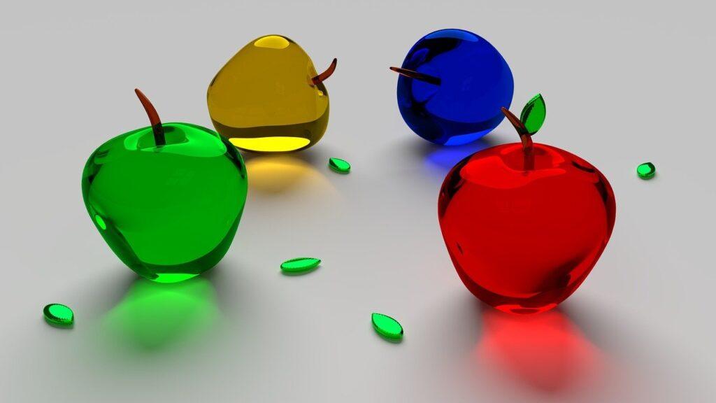 apple, glass, fruit