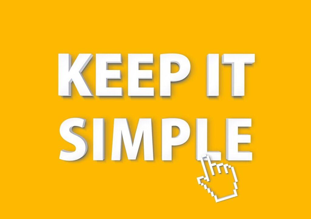 keep it simple, typography, hand cursor
